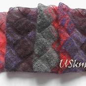 Аксессуары handmade. Livemaster - original item Tippet from knitted mohair and natural silk 2. Handmade.