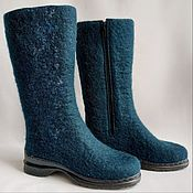 Обувь ручной работы handmade. Livemaster - original item All-steel boots with zipper lock h 32. Handmade.