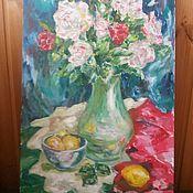 """Картины ручной работы. Ярмарка Мастеров - ручная работа Натюрморт """"Зимние розы"""". Handmade."""