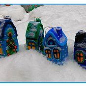 Куклы и игрушки ручной работы. Ярмарка Мастеров - ручная работа Домик елочное украшение. Handmade.