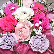"""Цветы и флористика ручной работы. Ярмарка Мастеров - ручная работа """"Весенняя романтика"""" Букет из конфет. Handmade."""