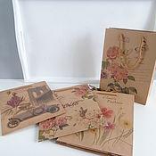 Пакеты ручной работы. Ярмарка Мастеров - ручная работа Крафт пакет 24х18. Handmade.