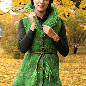 Одежда handmade. Livemaster - original item Felted vest for women