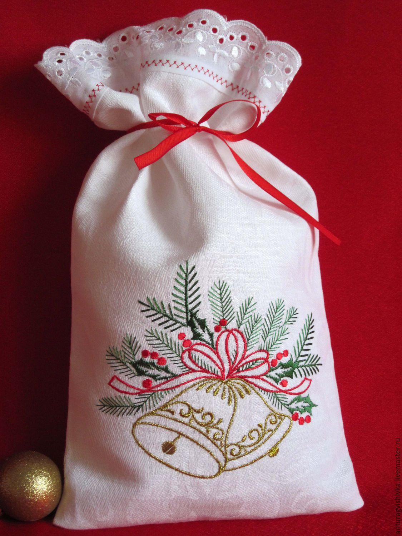 Мешочки для подарков новогодние подарки 643
