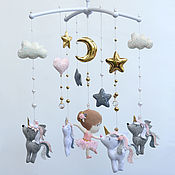 Работы для детей, handmade. Livemaster - original item Mobiles on the crib: