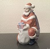 Предметы интерьера винтажные ручной работы. Ярмарка Мастеров - ручная работа LLADRO 6575 фарфоровая статуэтка Подарок от  Санта Клауса. Handmade.