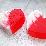 Косметика ручной работы. Ярмарка Мастеров - ручная работа Мыло Сердце со свирлами. Handmade.