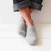 Обувь ручной работы. Ярмарка Мастеров - ручная работа Шерстяные вязаные следки / мужские. Handmade.