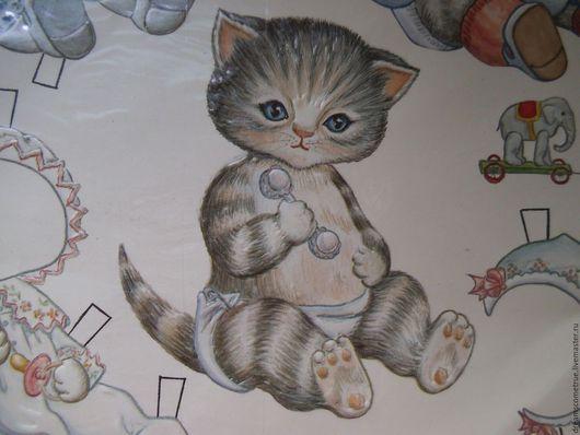Винтажные куклы и игрушки. Ярмарка Мастеров - ручная работа. Купить Винтажная бумажная кукла Kitty Cucumber. Handmade. Комбинированный