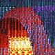 Абстракция ручной работы. Панно Восточный мотив в технике гобелен шерсть/акрил. Мария. Ярмарка Мастеров. Художественное панно, художественное ткачество