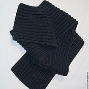 Аксессуары handmade. Livemaster - original item Scarf for men, knitted, black,dark gray, classic.. Handmade.