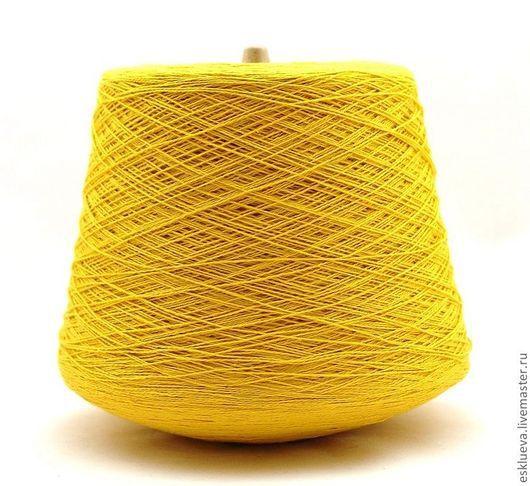 Вязание ручной работы. Ярмарка Мастеров - ручная работа. Купить Пряжа 100% хлопок. Италия. Handmade. Желтый, пряжа
