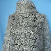 Аксессуары handmade. Livemaster - original item 172 downy scarf shawl, grey, Orenburg shawl. Handmade.