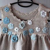 Работы для детей, ручной работы. Ярмарка Мастеров - ручная работа Hатуральный серый лен детское платье, Детская одежда 6 месяцев - 6 лет. Handmade.