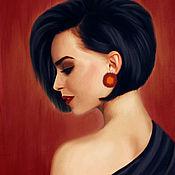 Картины ручной работы. Ярмарка Мастеров - ручная работа Женский портрет по фото. Handmade.