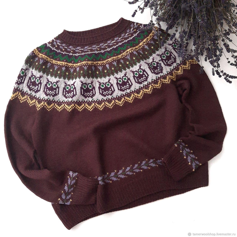 Исландский свитер с совами, традиционная Лопапейса, джемпер с совами, Свитеры, Москва,  Фото №1
