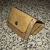 Сумки и аксессуары handmade. Livemaster - original item Small leather purse olive color.. Handmade.