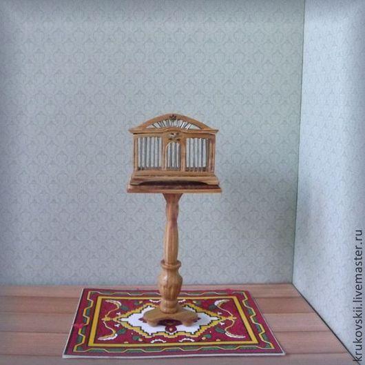 Клетка для птиц в кукольный домик