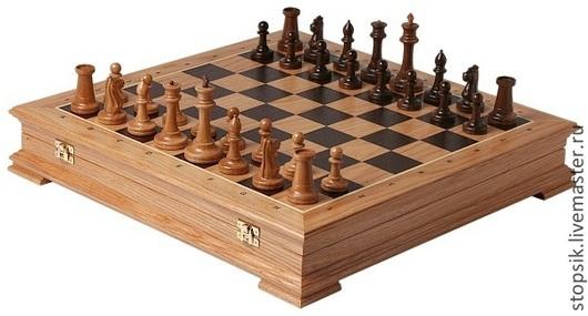 Настольные игры ручной работы. Ярмарка Мастеров - ручная работа. Купить Шахматы-ларец Стаунтон дуб (32983). Handmade.