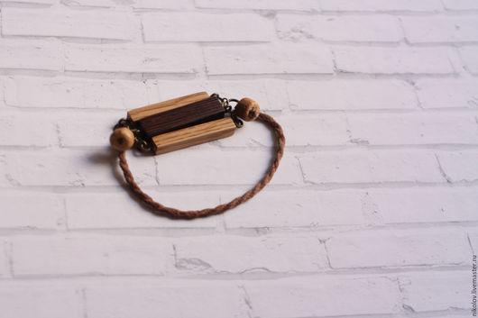 Браслеты ручной работы. Ярмарка Мастеров - ручная работа. Купить Деревянный браслет. Handmade. Коричневый, cherry wood, деревянные украшения