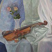 """Картины и панно ручной работы. Ярмарка Мастеров - ручная работа Картина """"Натюрморт со скрипкой"""". Handmade."""