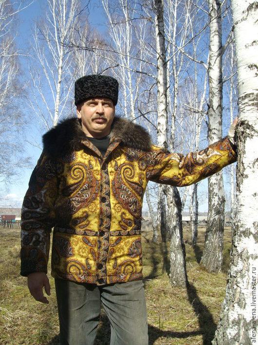 """Верхняя одежда ручной работы. Ярмарка Мастеров - ручная работа. Купить Мужское зимнее пальто """"Бравый казак"""".. Handmade. Разноцветный"""