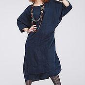 Одежда ручной работы. Ярмарка Мастеров - ручная работа Льняное бохо платье 4-21 оверсайз. Handmade.
