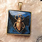 Украшения handmade. Livemaster - original item Pendant scarab. brass.. Handmade.