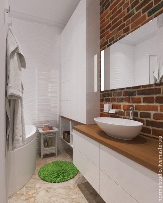 Дизайн интерьеров ручной работы. Ярмарка Мастеров - ручная работа. Купить ванная 2 вариант. Handmade. Белый