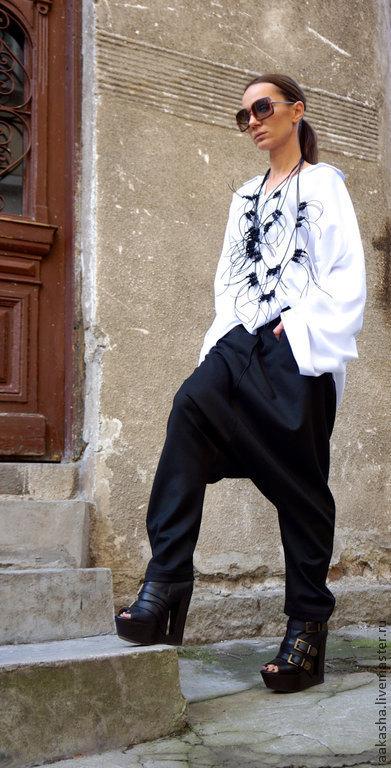 Рубашка женская рубашка летняя свободная туника белая туника