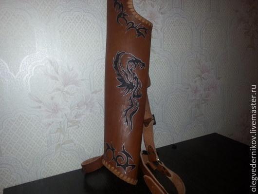 Спортивные сумки ручной работы. Ярмарка Мастеров - ручная работа. Купить колчан для стрел, кожа. Handmade. Коричневый, колчан, реконструкция