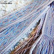 """Русский стиль ручной работы. Ярмарка Мастеров - ручная работа Льняной тканый пояс """"Голубка"""". Handmade."""