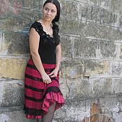 """Одежда ручной работы. Ярмарка Мастеров - ручная работа Вязаная крючком юбка """"Фламенко"""". Handmade."""