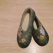 Обувь ручной работы. Ярмарка Мастеров - ручная работа Валяные тапочки, 38 и 39,5-40. Handmade.