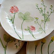 Тарелки ручной работы. Ярмарка Мастеров - ручная работа Тарелки из серии Дикие травы. Handmade.