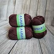 Материалы для творчества handmade. Livemaster - original item Yarn ANNA 16 289 Chocolate Italy Cotton. Handmade.
