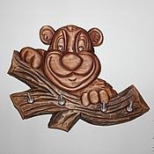 """Для дома и интерьера ручной работы. Ярмарка Мастеров - ручная работа Ключница """"Медвежонок"""". Handmade."""
