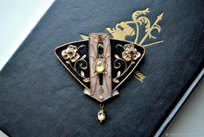brooch 'Florenus floris' sculpted miniature, Brooches, Vladimir,  Фото №1
