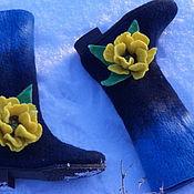 Валенки ручной работы. Ярмарка Мастеров - ручная работа Валенки Орхидея. Handmade.