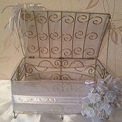 Свадебный салон ручной работы. Ярмарка Мастеров - ручная работа Корзина-сундук для подарков ЦЕНА СНИЖЕНА. Handmade.