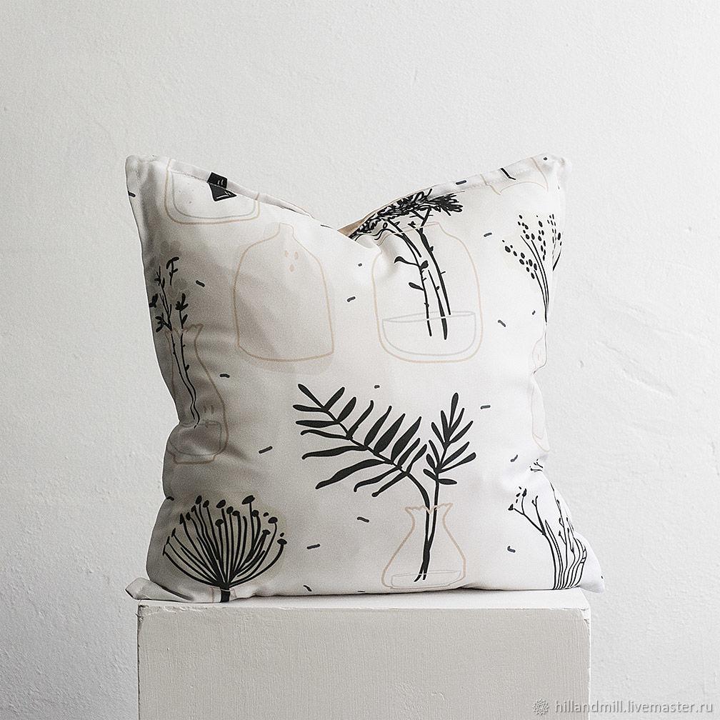 Pillow ' Vases', Pillow, Vyazniki,  Фото №1