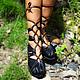 """Обувь ручной работы. Ярмарка Мастеров - ручная работа. Купить Кожаные сандалии ручной работы """"Black Super Sexy"""". Handmade."""