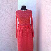 Одежда ручной работы. Ярмарка Мастеров - ручная работа платье вязаное ажурное,. Handmade.