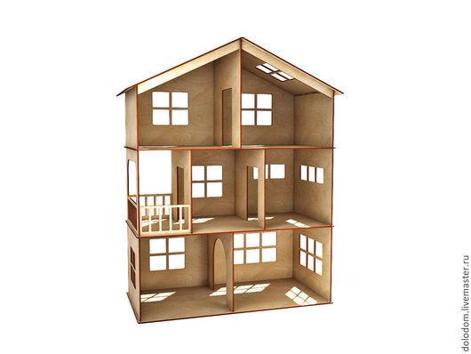 Кукольный дом ручной работы. Ярмарка Мастеров - ручная работа. Купить КД-0000001 Кукольный домик 3 этажа с балконом. Handmade.