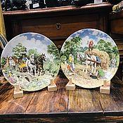 Винтаж handmade. Livemaster - original item Collector`s plate Life on the Farm, Wedgwood, 1988-1989. Handmade.