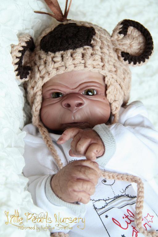 Куклы-младенцы и reborn ручной работы. Ярмарка Мастеров - ручная работа. Купить Герман. Handmade. Голубой, честер, фланель