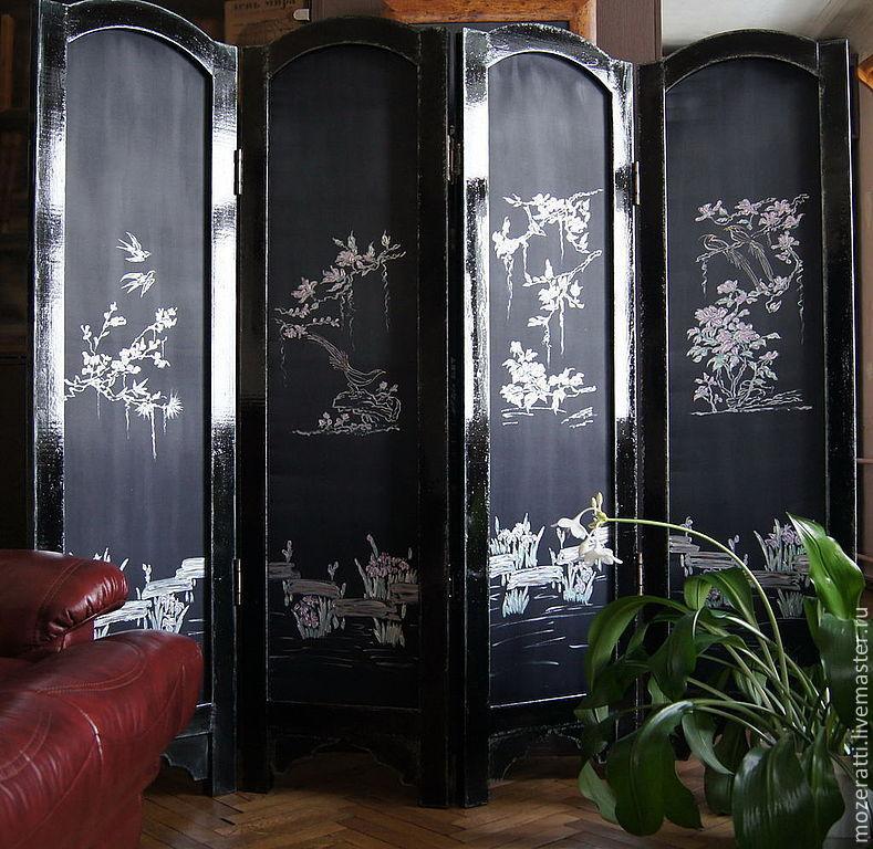 """Folding screen """"Silver Garden», Stained glass, Kazan,  Фото №1"""