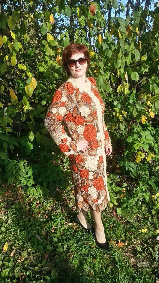"""Верхняя одежда ручной работы. Ярмарка Мастеров - ручная работа. Купить Пальто"""" Осенний блюз"""". Handmade. Коричневый, пальто демисезонное"""