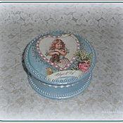 """Для дома и интерьера ручной работы. Ярмарка Мастеров - ручная работа шкатулка бонбоньерка """"Девочка с котёнком"""" (""""Капризуля""""). Handmade."""