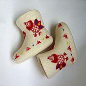 """Обувь ручной работы. Ярмарка Мастеров - ручная работа Валенки детские """"Петушки"""". Handmade."""